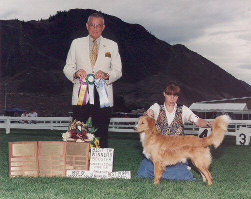 Smudge at 9 months, winning big at the 2003 BC Booster!